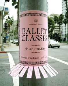 ballet classes poster. beautiful.