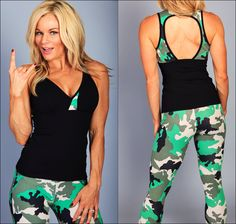 How do you like our new spring camo print ladies? ❤️ we're in love! #fashion #fitness #fitspo at www.equilibriumactivewear.com