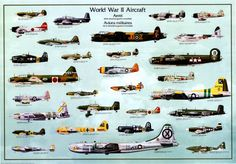 World War II aircrafts.