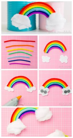 Arcoíris magnético con limpiapipas - Melt Tutorial and Ideas Diy Crafts Videos, Crafts To Do, Easy Crafts, Arts And Crafts, Paper Crafts, Rainbow Theme, Rainbow Birthday, Unicorn Birthday Parties, Kids Rainbow