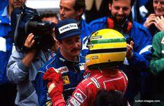 Ayrton Senna e Nigel Mansell