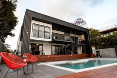Melbourne Architecture, Modern Architecture, Melbourne Street, Monochrome Color, Coastal Homes, Prefab, Home Fashion, My Dream, Beach House