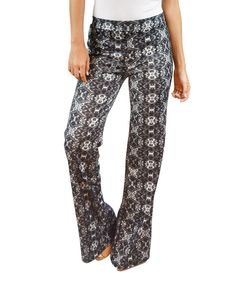 Love this Gray Arabesque Palazzo Pants by OhConcept Collection on #zulily! #zulilyfinds