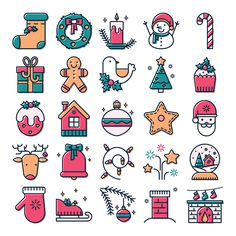 Christmas icon set on Behance