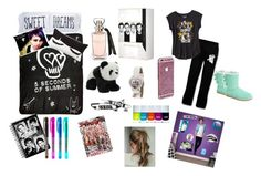 """""""Sleep over"""" by cookiemonsterb ❤ liked on Polyvore featuring The Rise and Fall, PBteen, UGG Australia, Fathead, women's clothing, women, female, woman, misses and juniors"""