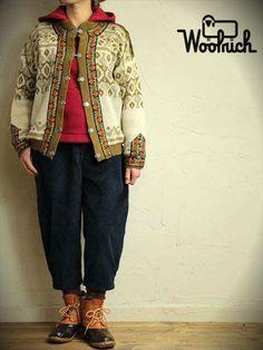 80's Woolrichウールリッチ ヴィンテージ コーデュロイクロップドパンツ ネイビー W30インチ コーディネート http://littletree-usa.com/blog/2014/11/28/2915