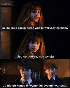 To jest już klasyk💓 Harry Potter Mems, Harry Potter Fan Art, Harry Potter Universal, Polish Memes, Funny Mems, Supernatural Funny, About Time Movie, Some Quotes, Wtf Funny