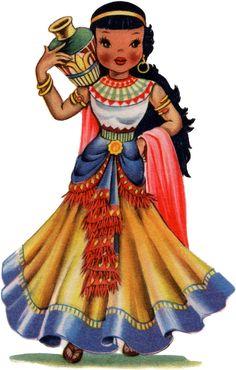 Retro Egypt Doll Image