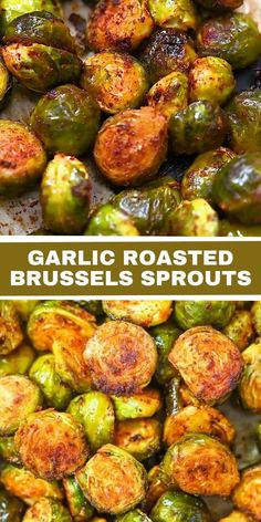 These Garlic Roasted Brussels Sprouts are really tender and tasty. This easy recipe takes a few simple ingredients and creates a mouthwatering side dish you'll be excited to serve. FOLLOW Cooktoria for more deliciousness! If you try my recipes - share photos with me, I ALWAYS check! Easy Healthy Recipes, Veggie Recipes, Indian Food Recipes, Vegetarian Recipes, Cooking Recipes, Recipes With Vegetables, Jalapeno Recipes, Baked Vegetables, Bacon Recipes