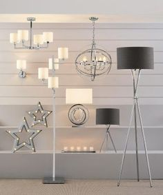 Chrome Tripod Floor Lamp from Next