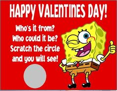 personalized spongebob squarepants valentines day cards scratch off style by danniscutecreations scratch to reveal your