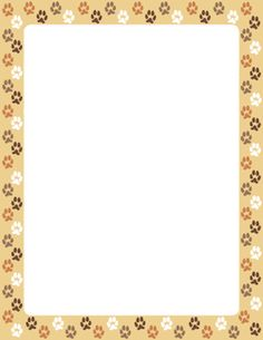 111 best borders animals images borders for paper borders frames writing paper - Paw print wall border ...