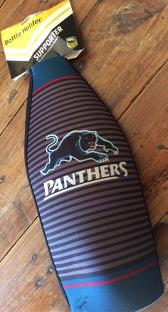 1 X NRL Penrith Panthers Football Long neck bottle Beer Holder Cooler NEW 24cm