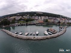 Aerial drone photo by Chrisparker Evian Les Bains, Aerial Drone, France, Alps, Photos, River, Outdoor, Outdoors, Outdoor Living