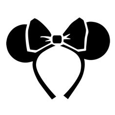 A pumpkin template inspired by our favorite Disney Parks accessory, the Minnie ear headband.