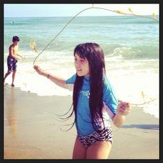 My Fit Kid made a beach seaweed jump rope!