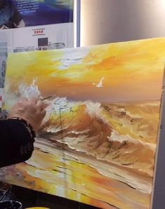 Canvas Painting Tutorials, Diy Wall Painting, Canvas Painting Landscape, Galaxy Painting, Painting Videos, Mural Painting, Oil Painting Abstract, Acrylic Painting Canvas, Stone Painting