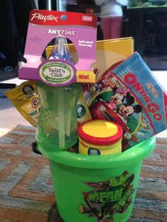 Baby Easter basket! This is for me nephew who is 10 months! :)