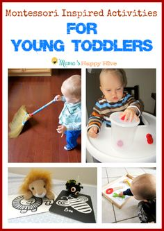 Montessori Inspired Activities for Young Toddlers - www.mamashappyhive.com