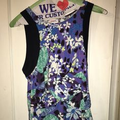petter pilotto for target top floral print stretchy wrap front peplum top Peter Pilotto for Target Tops Tank Tops
