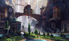 Matt Gaser via The Art of Animation - I really like the atmospheric perspective going on here