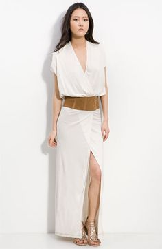 Haute Hippie Plunge Neck Belted Wrap Maxi Dress | Nordstrom-out of stock