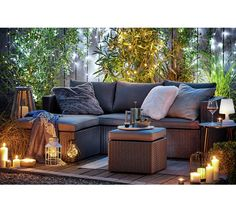 Buy Argos Home Rattan Effect Reversible Mini Corner Sofa | Garden chairs and sun loungers | Argos