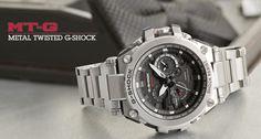 Casio Metal Twisted G-Shock Watch - Rich Consumer Casio G-shock, Casio Watch, Casio G Shock Watches, Men's Watches, Vintage Watches For Men, Men Dress, Metal, Accessories, Men's Clothing