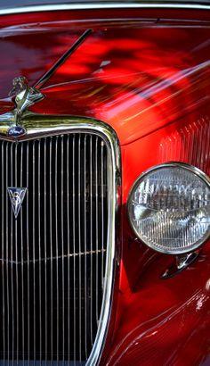 Red Hotrod  by Dean Ferreira Fine Art