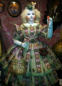 Exquisite Dress for Huret or Huret-Type French Fashion Doll