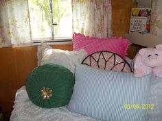 This  is inside the pink camper.