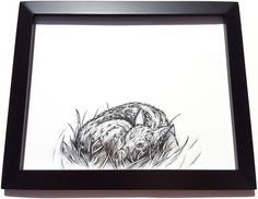 Fawn Drawing. www.GregLowmanArt.com