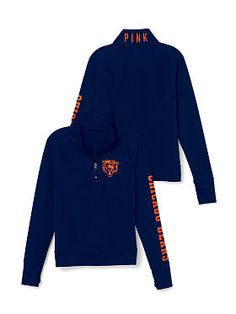 PINK Chicago Bears Athletic Half-Zip Pullover $49.95