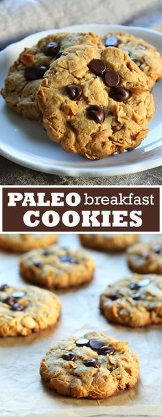 Recipes Breakfast Cookies Get this tested recipe for Paleo Breakfast Cookies. A tasty, healthy way to start your day - grain free, gluten free, refined sugar free, dairy free! Paleo Sweets, Paleo Dessert, Gluten Free Desserts, Dairy Free Recipes, Paleo Recipes, Real Food Recipes, Cooking Recipes, Diet Desserts, Disney Recipes