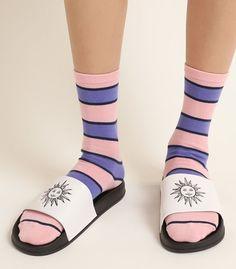 Slide Rule, Slide Sandals, Socks, Sneakers, Sandals, Tennis, Slippers, Sock, Sneaker