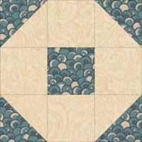 Snowball quilt block variation