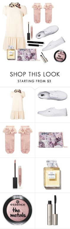 """""""Cream Dream"""" by mistress-webb ❤ liked on Polyvore featuring RED Valentino, Vans, Monsoon, Ted Baker, Burberry and Ilia"""