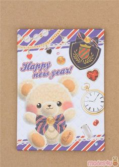 4 small envelopes by Steadfast from Japan, 4 envelopes, with stickers, width: ca. height (when sealed): ca. Small Envelopes, Paper Envelopes, Happy New Year Text, Japanese Stationery, Envelope Design, Letter Set, Chinese New Year, Cute Designs, Super Cute