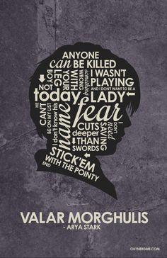 Arya Stark Quote Poster #arya #stark #gameofthrones