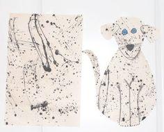 BluemoonPalette: 4th grade splatter paint. Jackson Pollack