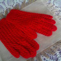 Háčkované prstové rukavice pro slečny a paní Gloves