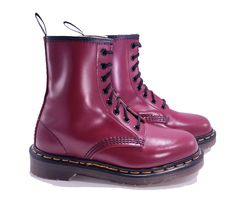 a7d4c377e08b Dr. Martens Doc England Rare Vintage Cherry Red 1460 Boots UK 3 US 5