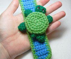 Crochet a Turtle Cuff Bracelet