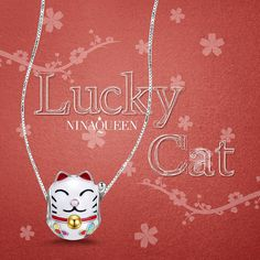 Christmas Gifts, NinaQueen 'Japanese Lucky Cat' 925 Sterling Silver Multicolor Enamel Animal Bead Charms -- You can find more details by visiting the image link. (This is an affiliate link) #WomensJewelry