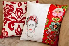Frida Kahlo embroidery template - FREE download