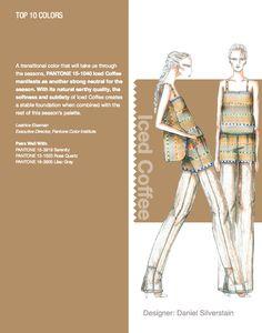 NYFW Pantone Color Report. Top 10 Colors - Iced Coffee. Designer: Daniel Silverstain