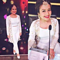 Neha Kakkar In Lovely White Western Wear Western Gown, Western Dresses, Indian Dresses, Indian Outfits, Western Wear, Ethnic Wear Designer, Indian Designer Outfits, Neha Kakkar Dresses, Lakme Fashion Week 2017