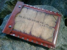 Leather Ipad Tablet case with J.R.R Tolkien Quote - Not all who wander are lost // Another ridiculously geektastically awesome iPad case!