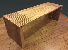 Solid ash and birch ply dining table Handmade Wood Furniture, Bespoke Furniture, Plywood Furniture, Outdoor Furniture, Outdoor Decor, Birch Ply, Contemporary, Modern, Great Places
