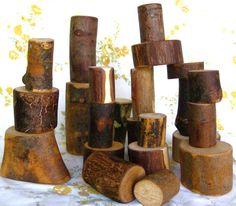 Waldorf Style Wooden Block Set
